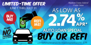 Buy or Refi Auto Loan Special Promotional Graphic