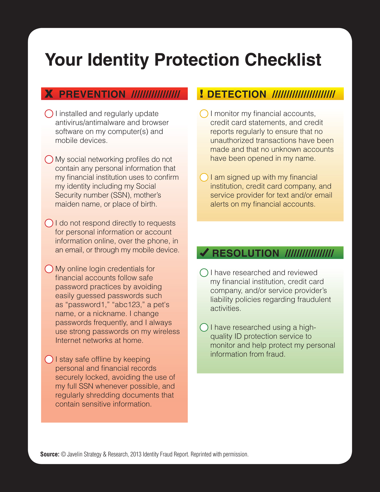 Madison county federal credit union your identity protection checklist fr 3104 identity checklistdd reheart Gallery